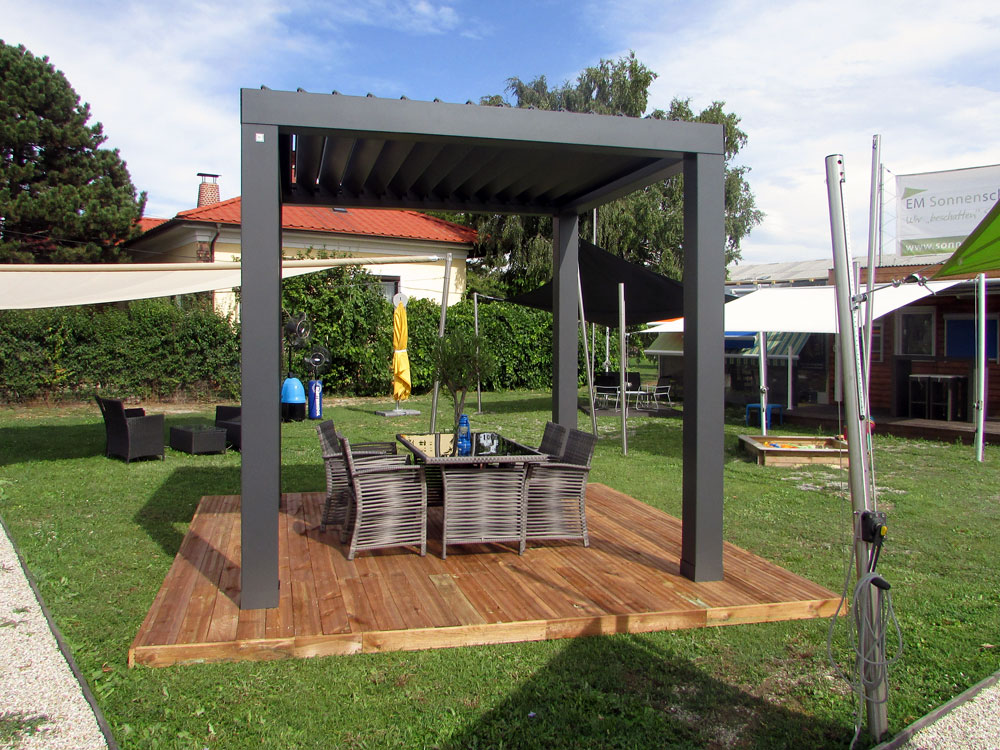 bioklimatische pergola em sonnenschutz der. Black Bedroom Furniture Sets. Home Design Ideas